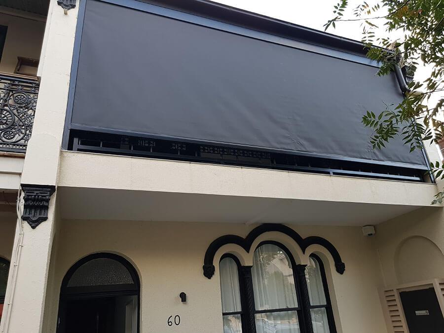 Urban track outdoor zip blinds