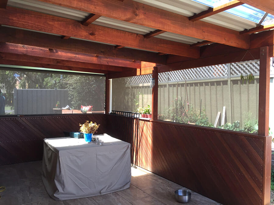 Outdoor blinds