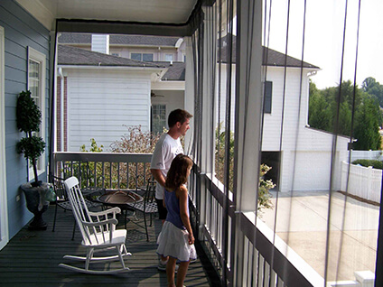 Clear plastic blinds for outdoors