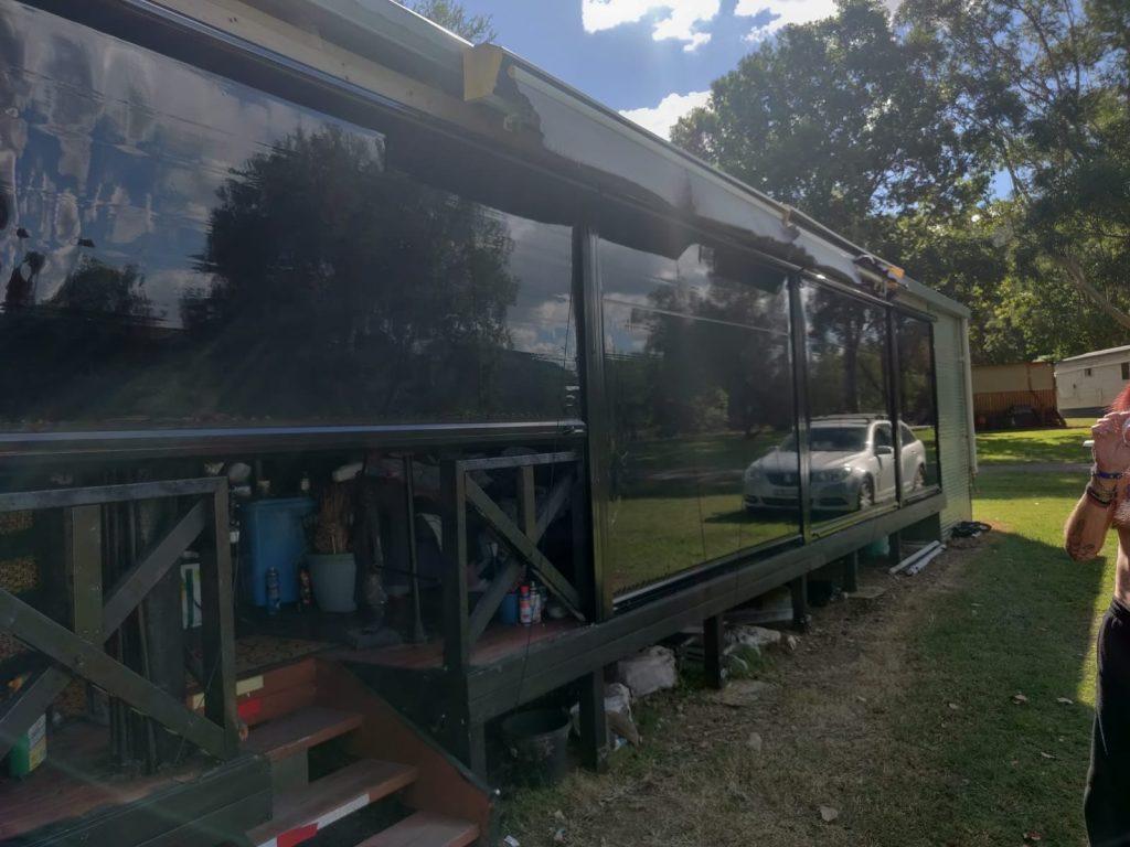 Deep channel outdoor blinds