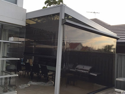 Outdoor dual blinds system Sydney